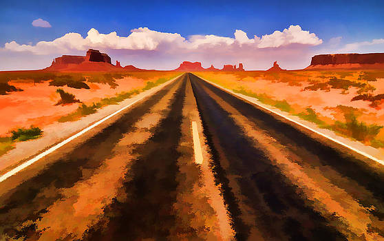 On the Road by Jeff R Clow