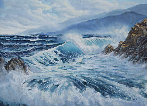 On the sea's waves by Milan Pilipovic