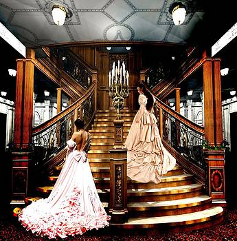 On the Staircase of Titanic by Amanda Struz