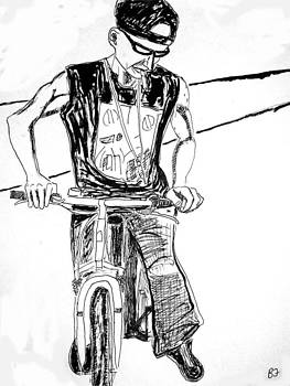 On The Street Cyclist by Allen Forrest