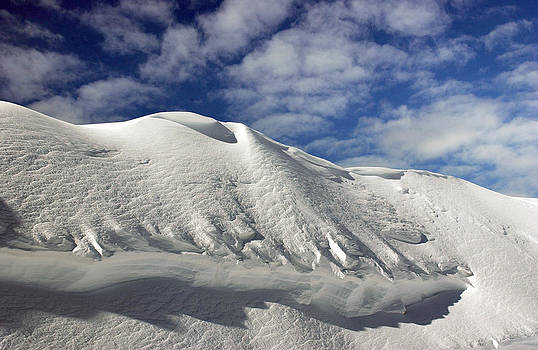 On the top of the World Snow and Sky. Snowbasin mountainUtah by Anton Oparin