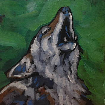 One Wolf Howling by Kat Corrigan