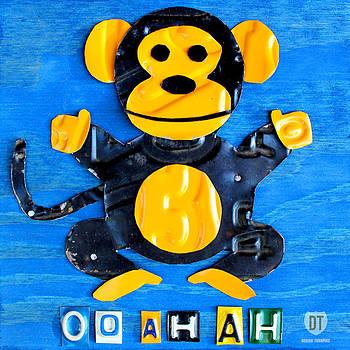 Design Turnpike - Oo Ah Ah the Monkey License Plate Art