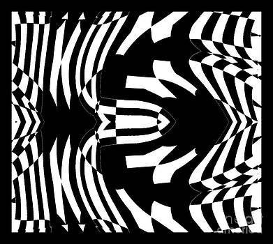 Op Art Black White Abstract Gometric No.290. by Drinka Mercep