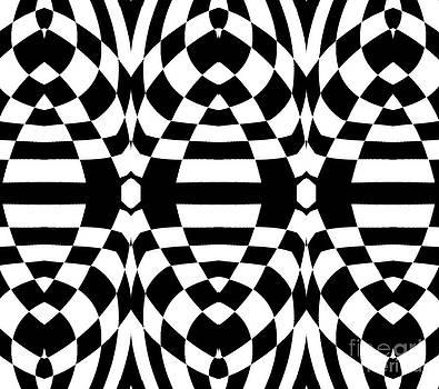 Drinka Mercep - Op Art Black White Geometric Abstract Print No.262.