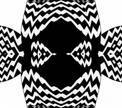 Op Art Black White Geometric No.310. by Drinka Mercep