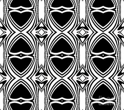 Drinka Mercep - Op Art Black White Geometric Pattern Art Print No.135