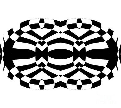 Op Art Black White No.280. by Drinka Mercep