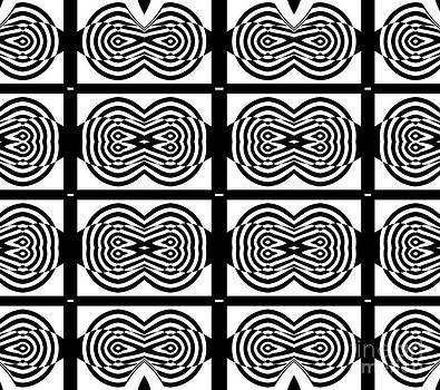 Drinka Mercep - Op Art Black White Pattern No.131