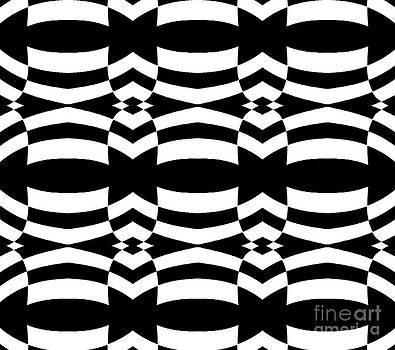 Op Art Black White Pattern No.139  by Drinka Mercep