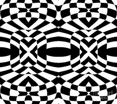 Drinka Mercep - Op Art Black White Pattern No.61