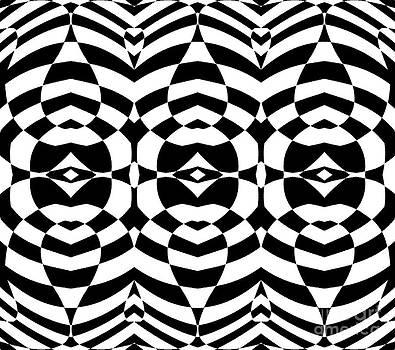 Drinka Mercep - Op Art Geometric Abstract Black White Pattern Print No.124