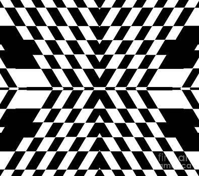 Op Art Geometric Black White Abstract No.320. by Drinka Mercep