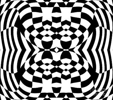 Drinka Mercep - Op Art Geometric Pattern Black White Print No.230.