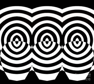 Drinka Mercep - Op Art Geometric Pattern Black White Print No.71