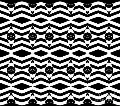 Op Art Pattern Black White Geometric Art No.332. by Drinka Mercep
