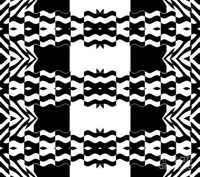 Op Art Pattern Geometric Black White Print No.263. by Drinka Mercep
