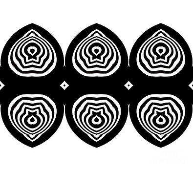 Op Art Pattern Minimalist Geometric Black White Art No.333. by Drinka Mercep