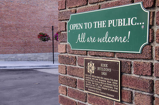 Open To The Public Sign in Downtown Hendersonville NC by Wesley Corn