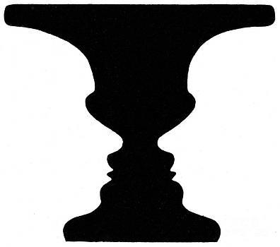 Science Source - Optical Illusion Rubins Vase 1915