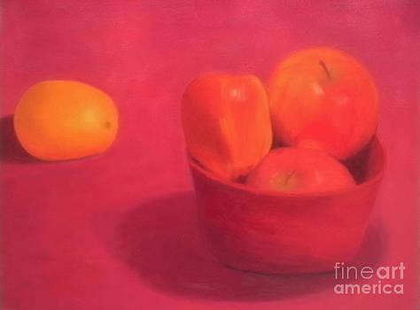 Orange and Apples by Rachel Dunkin