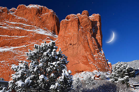 Orange and Blue Beauty at Garden of the Gods by John Hoffman