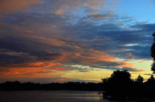 Dennis James - Orange and Blue Clouds