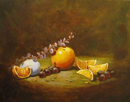 Orange and Egg by Carol Hart