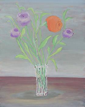 Orange and purple Flowers by Carmela Cattuti