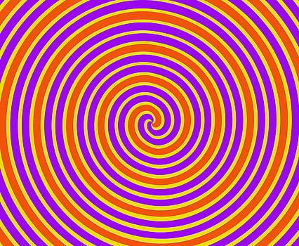 Orange and Yellow Spiral by Karin Hildebrand Lau