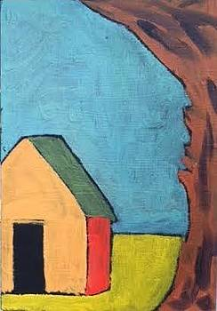 Orange Barn with Great Big Tree by Molly Fisk