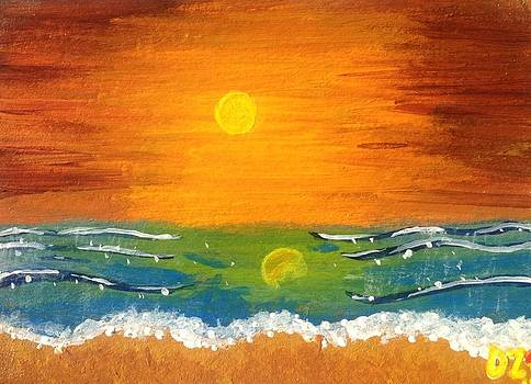 Orange Beach by Diego  Zegarra