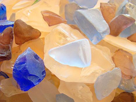 Baslee Troutman - Orange Blue SEAGLASS Beach Designs