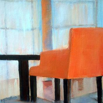 Orange Chair by Maureen Ghetia
