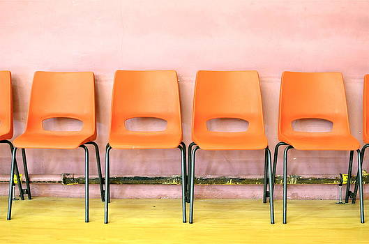 Orange Chairs by Louise Morgan
