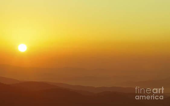Orange Crush Sunrise Over The Blue Ridge Mountains by Jo Ann Tomaselli