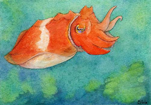 Orange Cuttlefish by Sheryl Westleigh