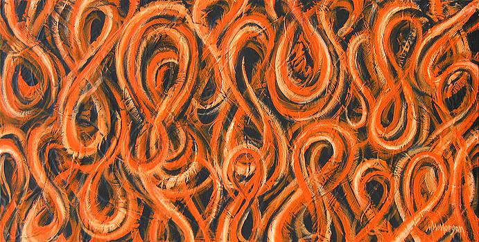 Michael Morgan - Orange Figure-Eight Study