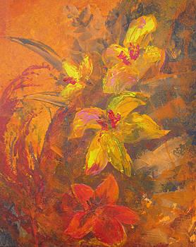Orange Floral  by Melanie Stanton
