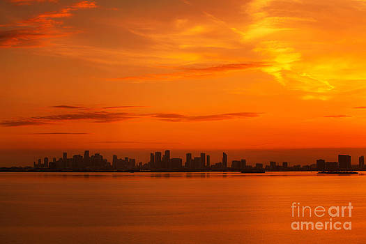 Orange Glow Over the City by Nicholas Tancredi