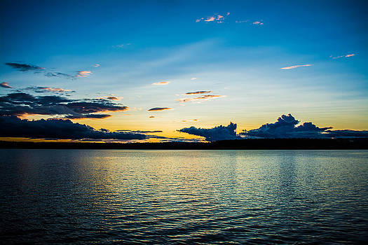 Orange N Blue Lake Sunset by Jason Brow