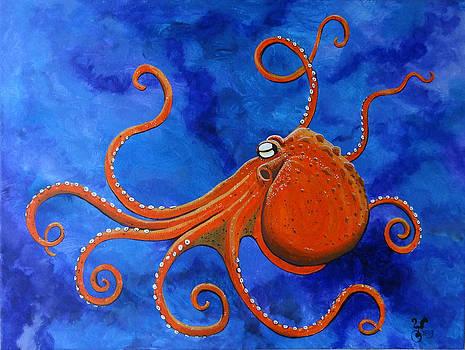 Orange Octopus by Yabette Swank