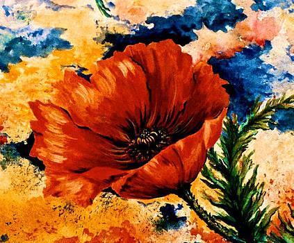 Oriental Poppy by Jan Law