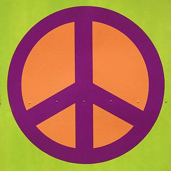 Art Block Collections - Orange Peace Symbol