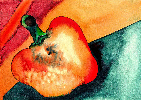 Orange Pepper Whole by Ruth Brown