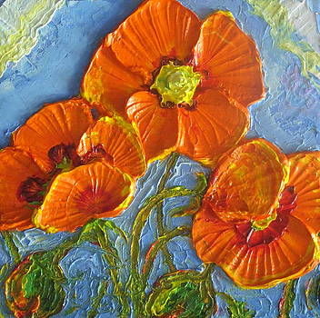 Orange Poppies II by Paris Wyatt Llanso