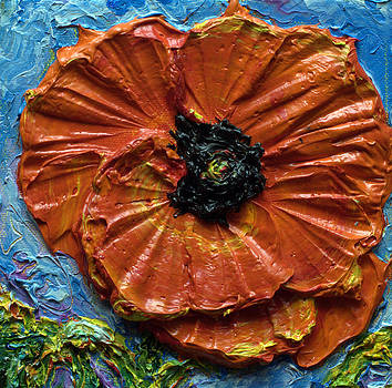 Orange Poppy III by Paris Wyatt Llanso