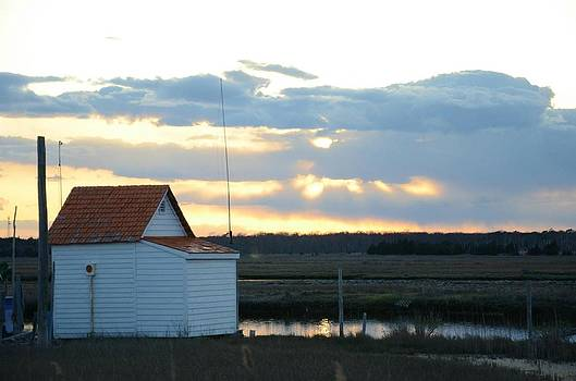 Orange Roof Shack by Paul Deforrest