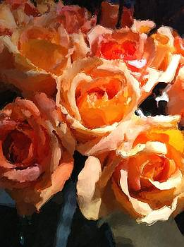 Orange Roses by Lyn Pacific
