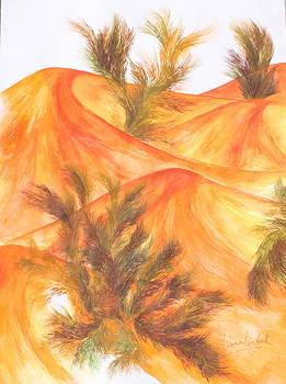 Orange Sand Dunes by Ashima Kaushik